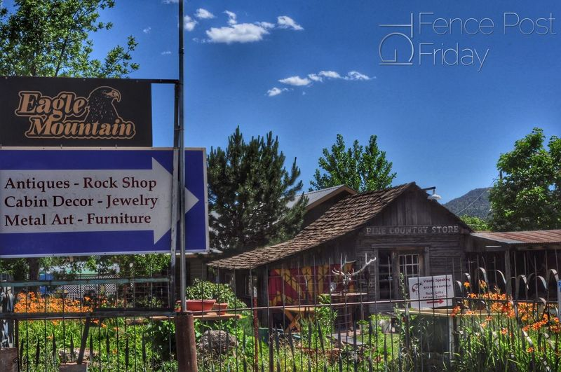 """In my travels this week I happened by """"The Country Store"""" in none other than Pine AZ ... a quaint little place ... when I saw the fence out front I immediately knew that this fine established would be forever be immortalized in the TGI Fence Post Friday album With My Friends That Connect Architecture Flowerporn"""
