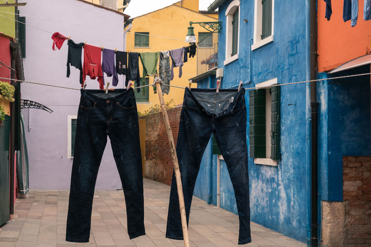 Architecture Burano, Venice Colors Italia Travel Travel Photography Venezia Venezia, Italia Venice, Italy Burano Clothesline Clothing Color Colorful Day Hanging Italy Laundry No People Outdoors Photography Streetscape Venice