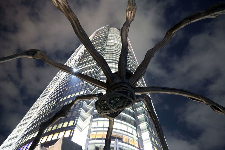 Architecture City Cloud - Sky Day Louise Bourgeois Maman Mori Tower Outdoors Roppongi Roppongi Art Night Sky Spider Tokyo Tokyo Street Photography Tokyo,Japan Travel Vacations EyeEmNewHere EyeEm Gallery EyeEm Best Shots EyeEmBestPics Cool No People Adapted To The City Welcome To Black Neighborhood Map