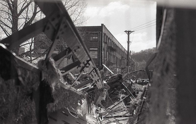 Abandoned Blackandwhite Damaged Flooded Kodak Tri-X 400 Olympus Streetphotography WaterDamage