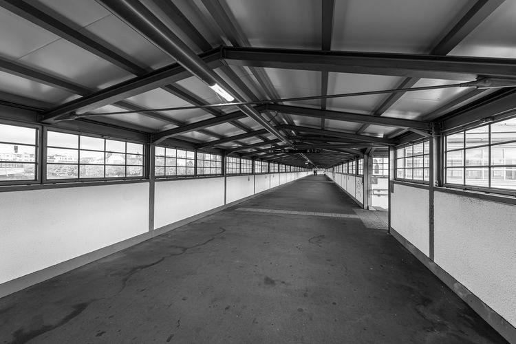 Empty walkway in building