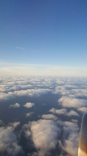 Aerial view of clouds over landscape