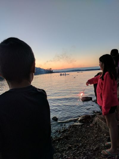 Lake Life Independenceday Sparkler 💖 Kidsbeingawesome Children Playing Children Having Fun In The Summertime Brother And Sister ♥ Beautiful ♥