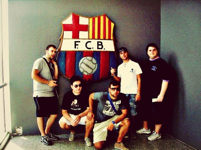 At Camp Nou with my Friends