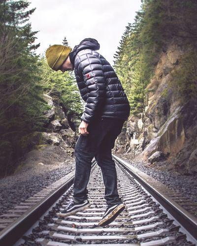 Railroad Track Levitation Freeze Frame Suspended