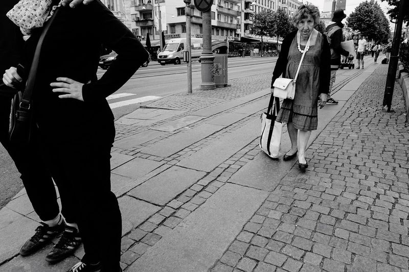 Blackandwhite Blackandwhite Photography Black & White Black And White Monochrome People People Watching People Photography Street Photography Streetphotography Göteborg, Sweden Showcase July Monochrome Photography Snap a Stranger The Street Photographer - 2017 EyeEm Awards This Is Aging
