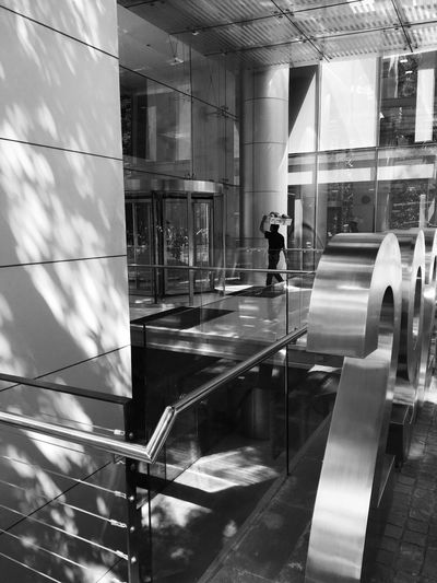 Reflection Built Structure Real People Architecture Men One Person Lifestyles Indoors  Motion Women Rear View Full Length Modern Day People