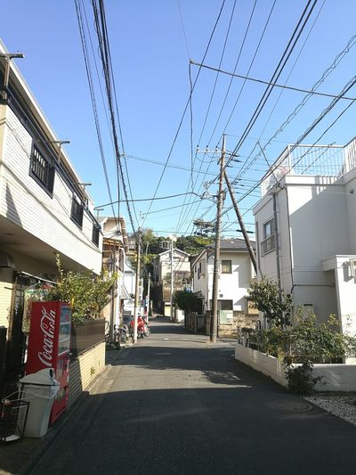 Japanese Town Electric Cables 日本の街並み 電線