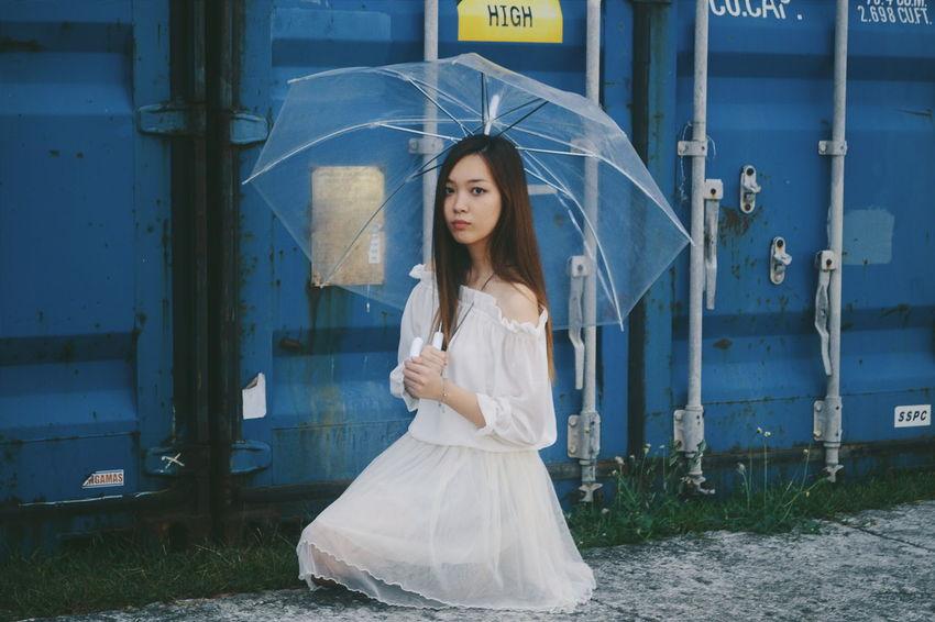 Demean. Umbrella VSCO NikonD3100 Women Of EyeEm Asianlook Cinematography Portraiture Woman Week On Eyeem White Philippines