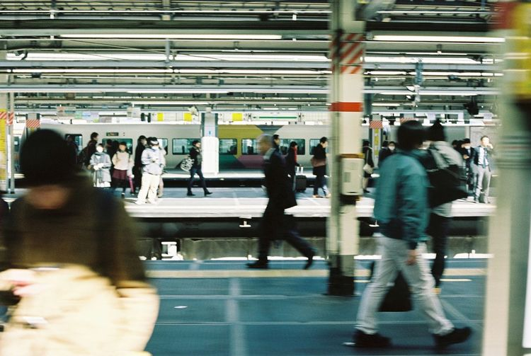 On The Move Contax G2 Kodak Portra 35mm Film Film Tokyo Subway Station Everyday Lives Urbanphotography My Daily Commute