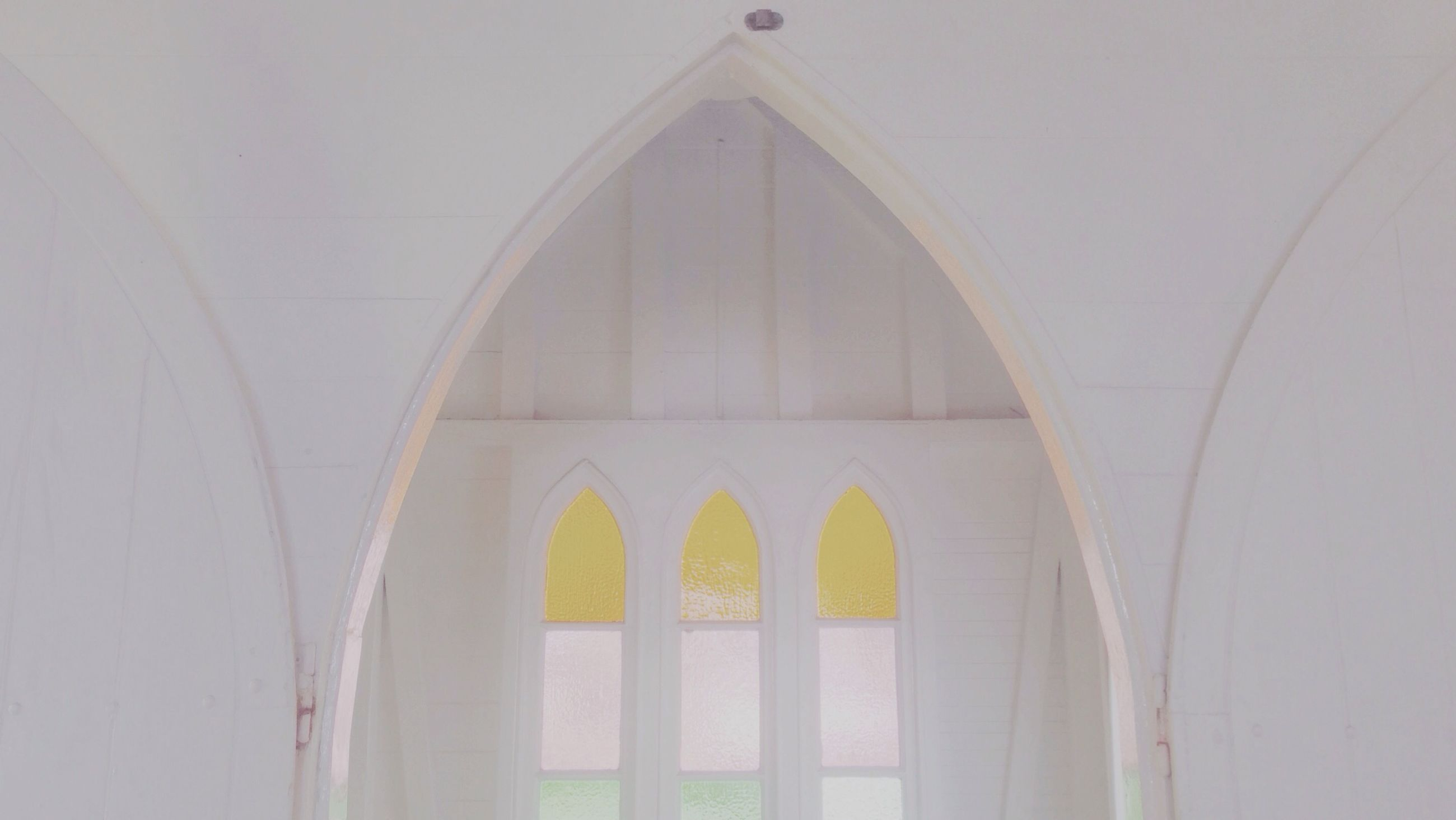 architecture, arch, built structure, indoors, low angle view, architectural feature, religion, place of worship, church, window, spirituality, day, white color, design, no people, pattern, famous place, ceiling, building exterior