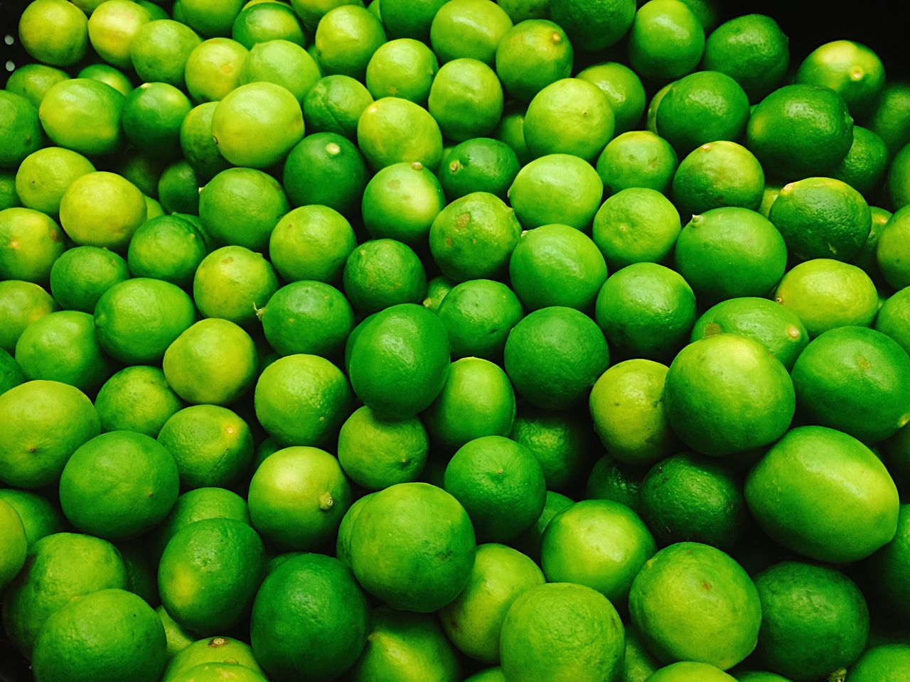 High Angle View Of Lemons At Market Stall