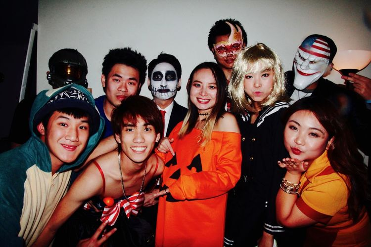 1000th photo - Halloween famliy portrait, My friends from LRC. Celebration Family Friends Halloween Japanese  Korean Portraits Taiwanese Thailand Vietnamese Childhood Chinese Cute Day Friendship Halloween Happiness Indoors  Looking At Camera Portrait Portrait Of A Friend Real People Smiling Standing Togetherness