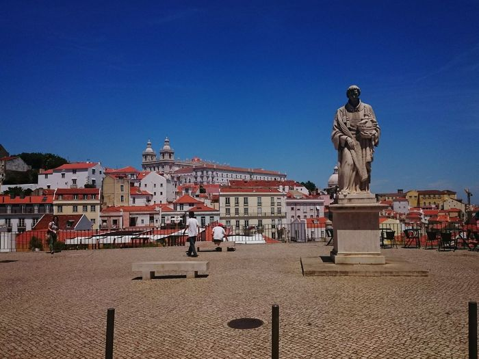 Being A Tourist Horizon Blue Sky Portugal Architecture When You Stand Part Of HistoryLisbon Stone Statue Statue Architecture_collection