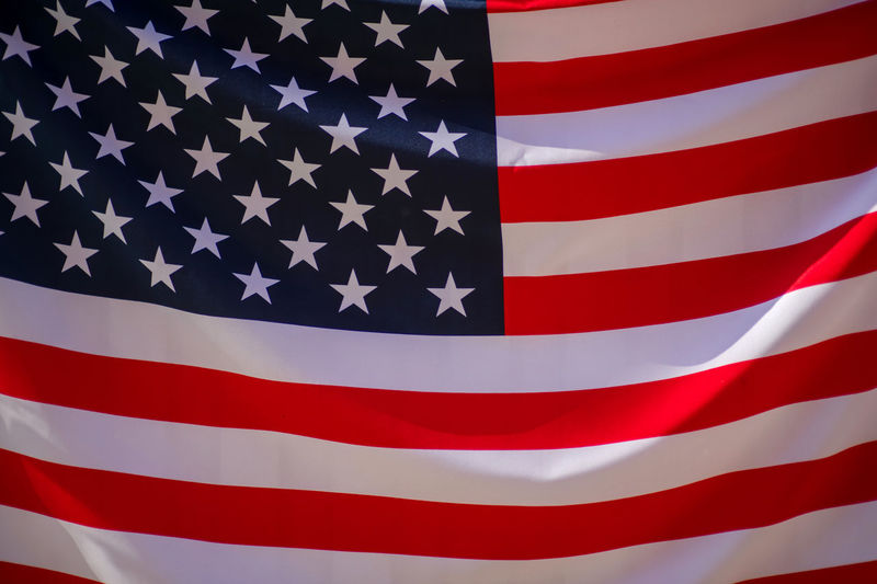 USA flag Patriotism Flag Red Shape Striped Star Shape Backgrounds Pattern No People White Color Textile Close-up Blue Symbol Full Frame Freedom Independence National Icon