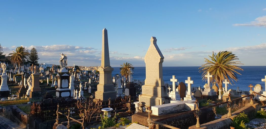 Unexpected to find a cemetery on a spot near the sea ! Cemetery Waterviews EyeEm Selects Sky