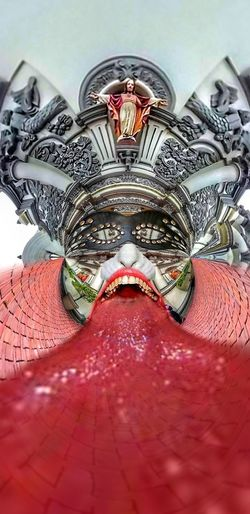 I had fun with this one. My apologies to the catholic church. But I just couldn't resist. Tongue Mask Cathedral Catholic Catholic Church Bizarre Strange Architecture Face Leather Brick Statue Cathedral Historical Building Monterrey Cobblestone Walking Around Filter Streetphotography Colors Design Irreverent Sacrilegious Indoors  No People Statue Close-up Day