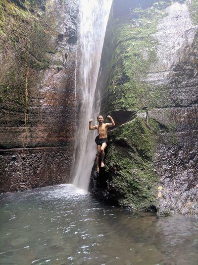 Hiden waterfall in bogor indonesia