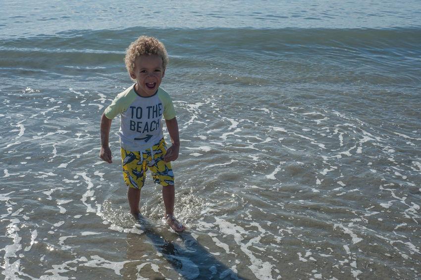 Childhood Laughter Beach Carefree Children Fun Kids Laughter Laughing Ocean Outdoors Water Weekend Activities Wet