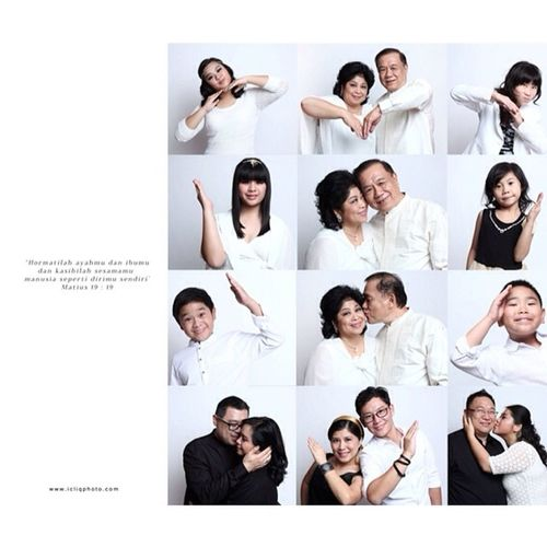 We can feel the love in the family photoshoot session. Throwback Tjokro Family Photoshoot Icliq Icliqphoto