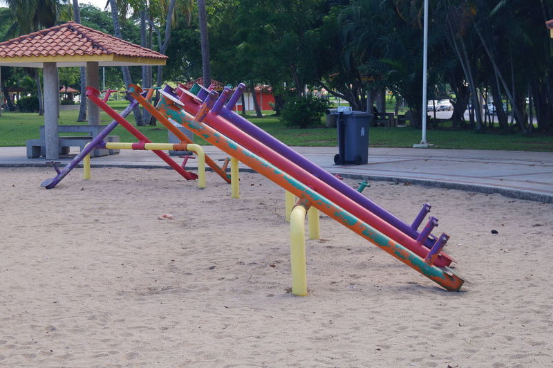 Playground Childhood Park Park - Man Made Space Outdoor Play Equipment Built Structure Sand Metal Architecture Multi Colored Absence Parque La Choca VillahermosaTabasco