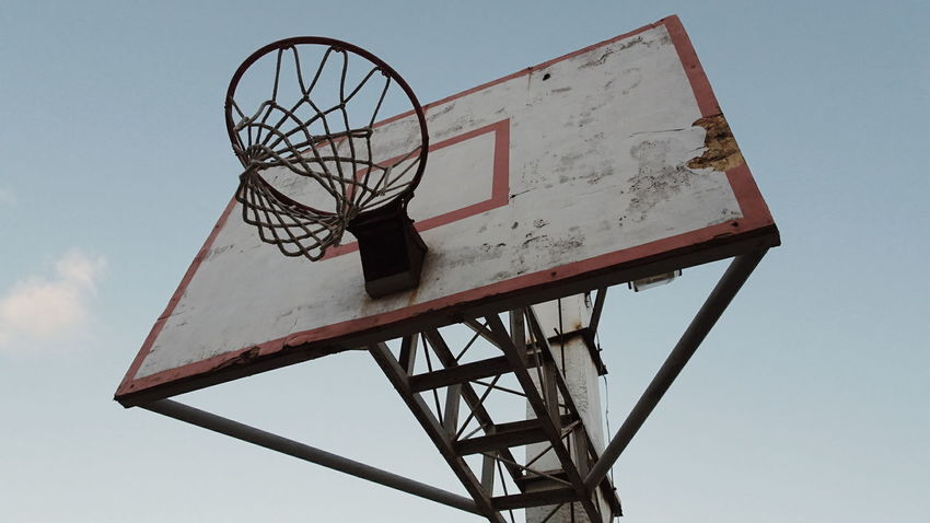 Basketball Hoop Sport Basketball - Sport Day Low Angle View Outdoors No People Sky Basketball Is Life Basketball NBA Playoffs Vintage Photography Rustic CavsVsGsw The Great Outdoors - 2017 EyeEm Awards