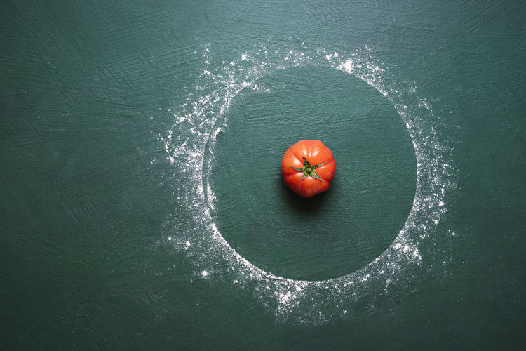 High angle view of strawberry in sea