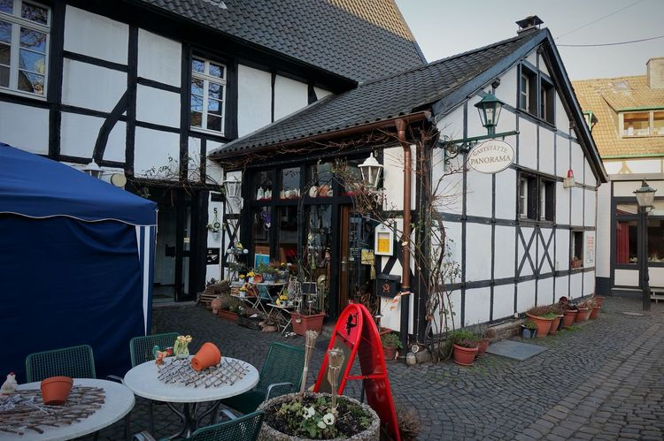"""by """"Panorama"""" Day Framehouses Herdecke In Westphalia Location No People Old Town Square Outdoors Panorama-Pub Pub Small Town Touristic Destination Village Photography"""