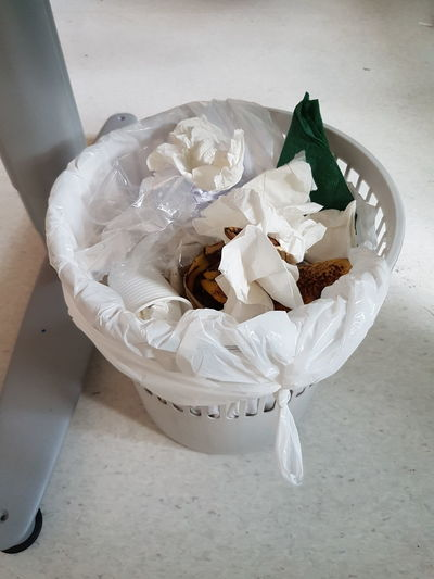 Close-up Crumpled Crumpled Paper Day Freshness High Angle View Indoors  No People Paper Tissue Paper Wastepaper Basket