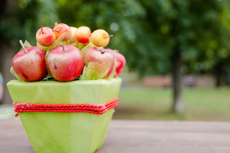 apples Apple - Fruit Close-up Container Day Focus On Foreground Food Food And Drink Freshness Fruit Green Color Healthy Eating Nature No People Outdoors Plant Red Still Life Table Tree Wellbeing