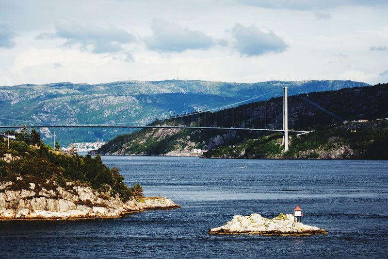 Bridge Over Sea Against Sky
