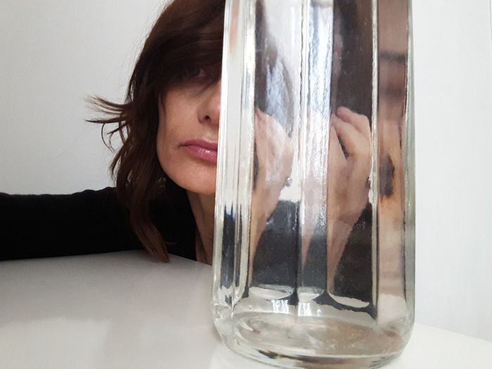 glass Lips White Color Portrait Of A Woman Women Of EyeEm Personal Perspective Young Women Women Headshot Beautiful Woman Smiling Close-up Looking Through Window Transparent Glass Glass - Material