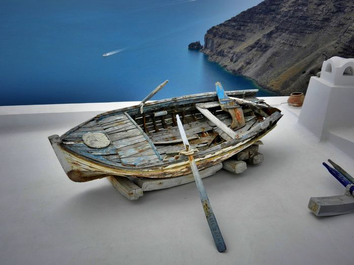 Boat Eye4photography  EyeEm Best Edits EyeEm Best Shots Greece Old Old Pic  Oldie  Oldiesbutgoldies Rawboat Roof Rooftop Santorini Tadaa Tadaa Community Tadaa Friends Wooden