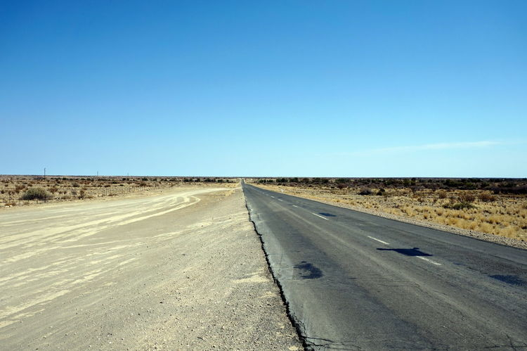 Arid Climate Clear Sky Desert Landscape Nowhere Outdoors Road The Way Forward
