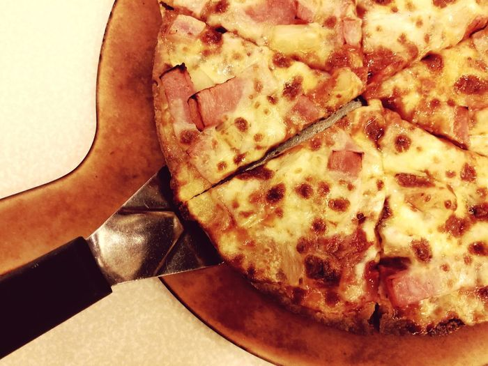 Pizza Food Ready-to-eat Cheese Testy HotDog Baked Table Hot Share Dinner Lunch Close-up Ham JUNKFOOD Freshness