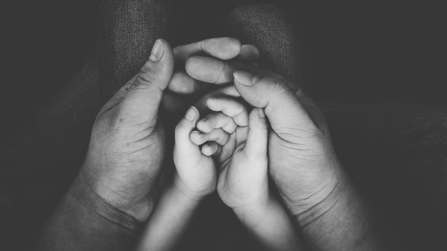 Family Human Hand Togetherness Two People Human Body Part Love Care Baby Human Finger Bonding Holding Unity Photography Black And White Photography