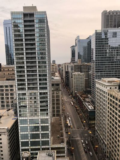 Great view from The Wit Hotel, Chicago, IL EyeEm Selects Architecture Building Exterior Skyscraper City Built Structure Cityscape Modern Downtown District City Life No People Sky Travel Destinations Urban Skyline High Angle View Day The Architect - 2018 EyeEm Awards