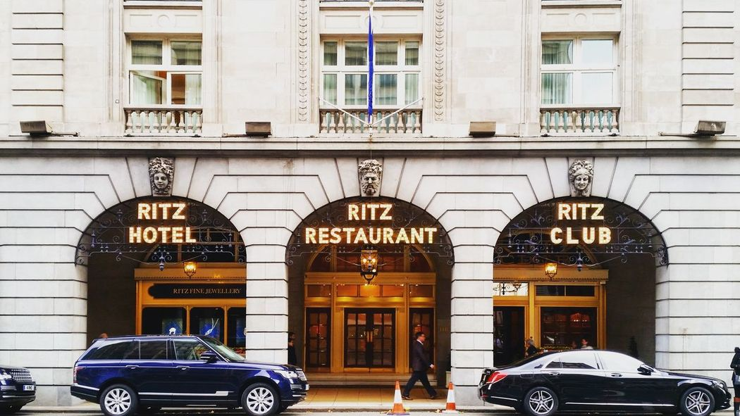 The Ritz, London. Architecture Building Building Exterior Car City City Day Façade Hotel London LONDON❤ Luxury Outdoors Parked Street Here Belongs To Me