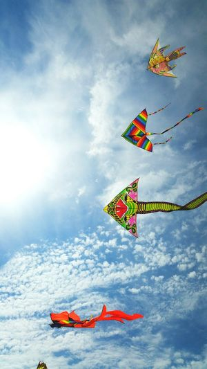 Kite Flying Kite Kites Cerf Volant Cerfvolant Cerfs-volants Sky And Clouds skyline Sky Sky Kite Blue Sky Clouds And Sky