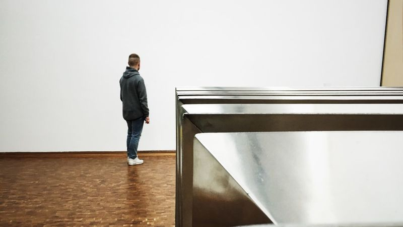 Full Length One Person Standing Real People Indoors  Men One Man Only Day People Köln Museum Museum Ludwig Modern Art