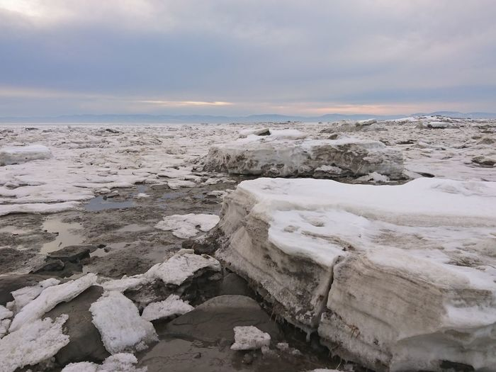 Quebec Canada Ice Beach Lowwater Beauty In Nature Winter Snow ❄ Nature Sky Beauty In Nature Nature Water Outdoors Landscape River