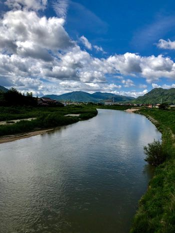 A Beautiful Landscape: Kurose River and Many Masses of Cumulus Clouds. (180922-181015) Cloud - Sky Sky Water Reflection Plant Tranquility Tree Beauty In Nature Nature Scenics - Nature Landscape Tranquil Scene Idyllic Day Outdoors No People