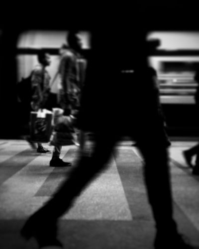 Blurred Motion Adults Only Defocused People City Adult Men Day Commuter Outdoors Only Men Metro Station EyeEm Best Shots EyeEm Gallery EyeEmBestPics Black And White IPhoneography Iphonephotography Iphoneonly Cairo Maadi VSCO