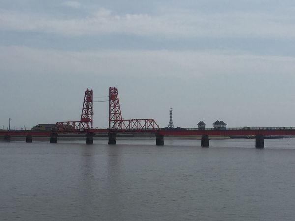 昇開橋 筑後川に架かる東洋一の可動式の橋 昇開橋 大川 徐福 筑後川 春休み 最後 Fukuoka Saga Bridge