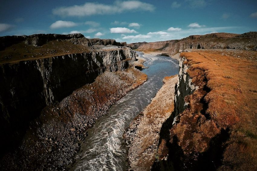 Nature No People Outdoors Day Beauty In Nature Tranquil Scene Landscape Tranquility Water Detifoss Canyon Iceland