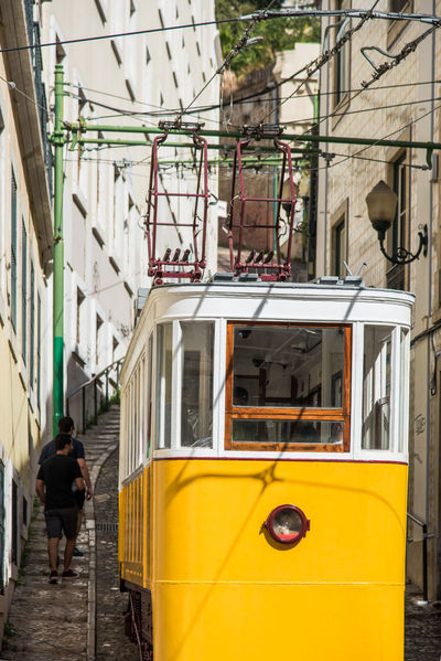 City City Life Elevator Lifestyle Travel Travel Photography Architecture Building Exterior Built Structure City Culture Day Funicular Land Vehicle Lifestyles Lisbon Mode Of Transport Outdoors Public Transportation Street Street Photography Streetphotography Transportation Travel Destinations Yellow
