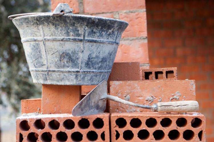 Close-up of old bricks