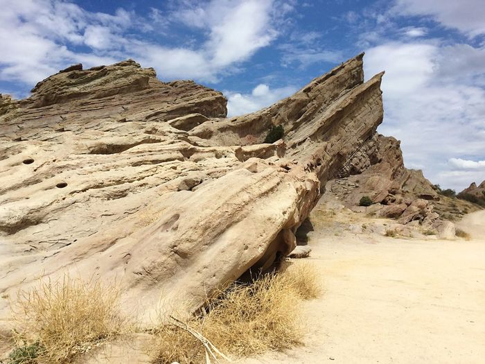 Vasquez rocks in natural area park against sky