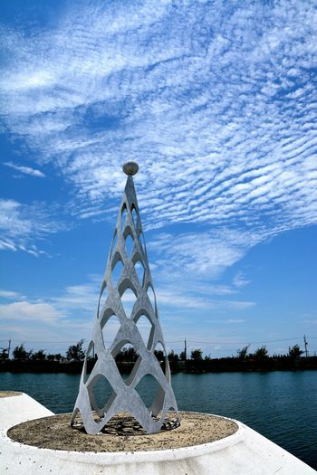 Beimen Tainan City Taiwan Architecture Blue Built Structure Cloud - Sky No People Outdoors Sunny Day Water