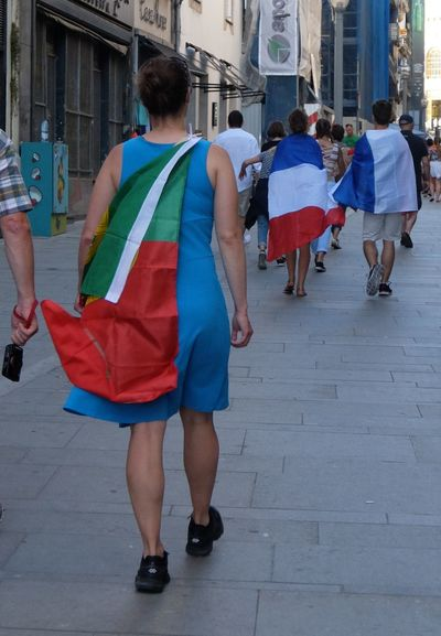 Clothing Euro 2016 Flags France Green & Red Outdoors People Ontheway 43 Golden Moments People Together